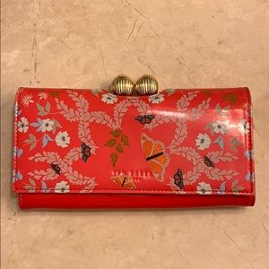 Ted Baker Kyoto Gardens Red matinee wallet